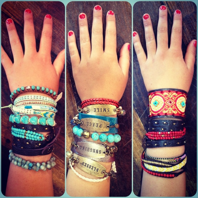 Every kind of bracelet you can think of, from friendship, to stackable, to a build your own...