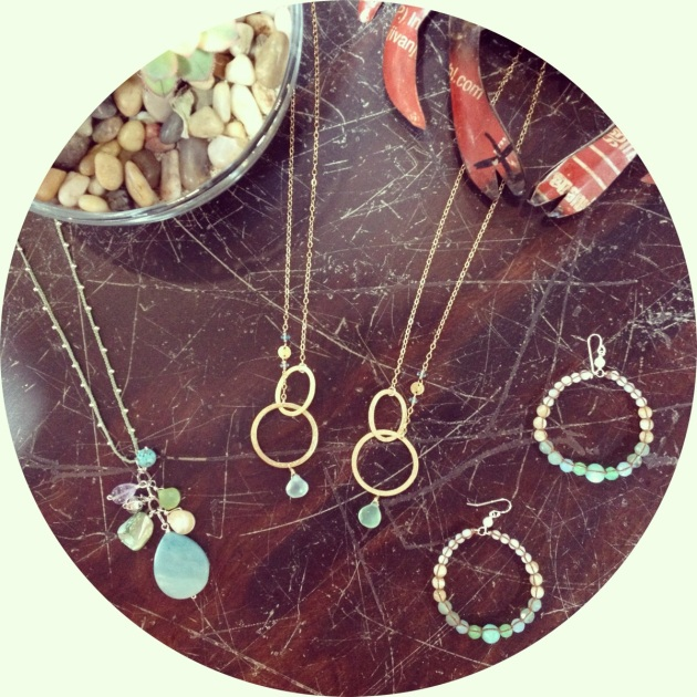 Galileo Jewelry, made right here in Laguna Beach by hand, using gemstones that will remind your mom of the beach every time she looks at it.